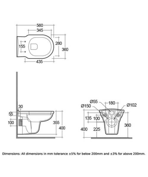 Technical drawing 62791 / WASWHPANSC500