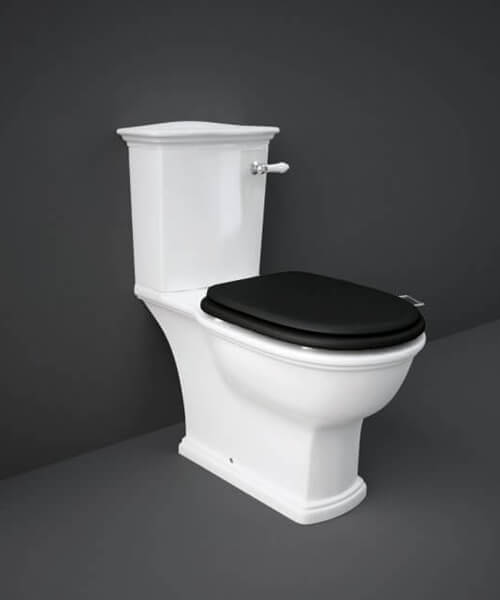 Additional image of RAK Washington Close Coupled WC With Front Lever Cistern And Soft Close Wood Seat
