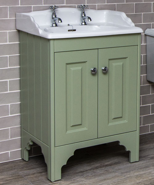 Silverdale Victorian 635mm Painted Cabinet With Basin