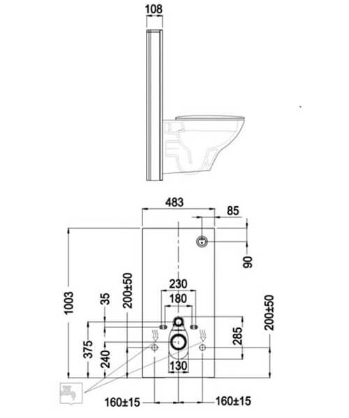 Technical drawing 62825 / FS04RAKCABBLK