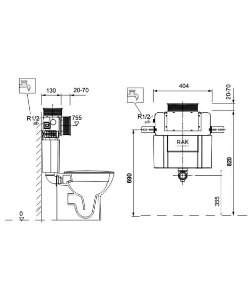 Technical drawing 62822 / FS12RAK82TF