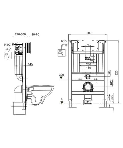 Technical drawing 62823 / FS04RAK82TF