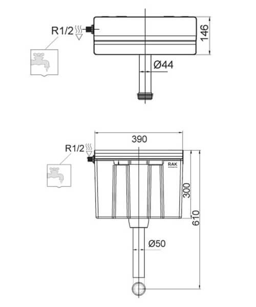 Technical drawing 62824 / FS12SRAKS1