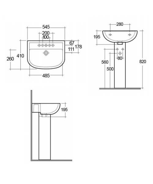 Technical drawing 576126 / COM45BAS1