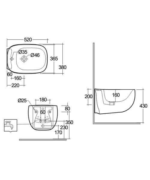 Technical drawing 62855 / ILLBD2101AWHA