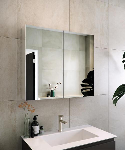 RAK Gemini Alluminium Mirrored Bathroom Cabinet