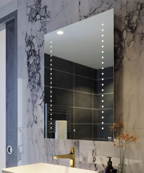 RAK Hestia LED Illuminated Mirror With Touch Sensor Switch - W 500 x H 700mm
