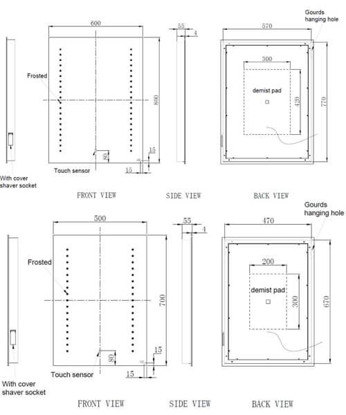 Technical drawing 62877 / RAKHES5001