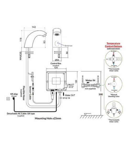 Technical drawing 62895 / RAKCOM905C