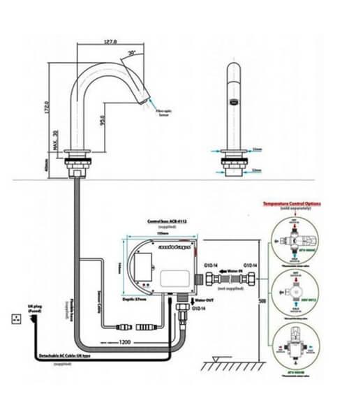Technical drawing 62900 / RAKCOM903C