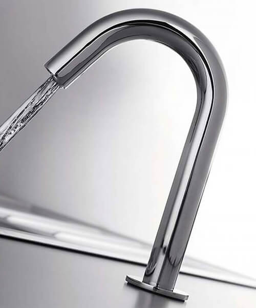 RAK Compact Commercial Tall Curved Infra Red Tap Deck Mounted