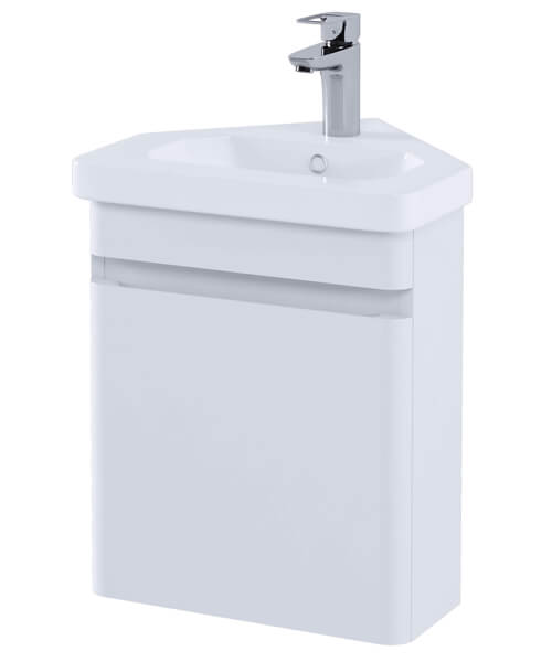 RAK Resort Wall Hung Corner Vanity Unit With Basin - W 450 x H 660mm