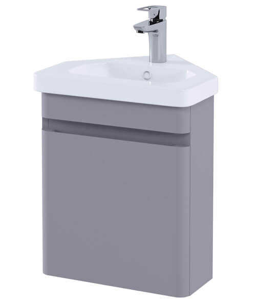 Additional image of RAK Resort Wall Hung Corner Vanity Unit With Basin - W 450 x H 660mm
