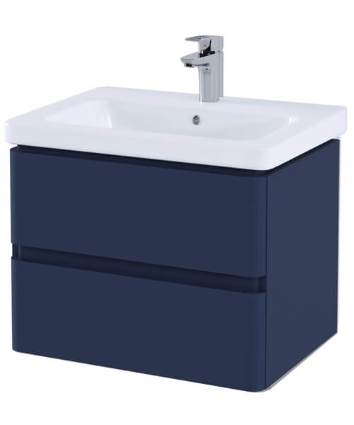 Alternate image of RAK Resort 650mm Wide Wall Hung 2-Drawer Vanity Unit With Basin