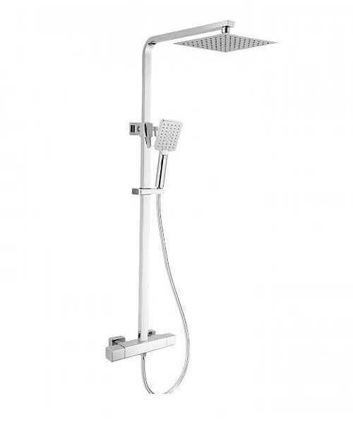 RAK Compact Square Exposed Thermostatic Shower Column - Chrome