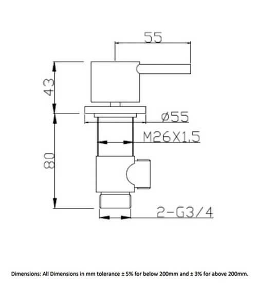 Technical drawing 62954 / RAKPRT3016