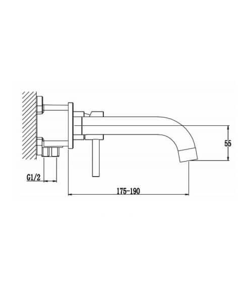 Technical drawing 62953 / RAKPRT3015