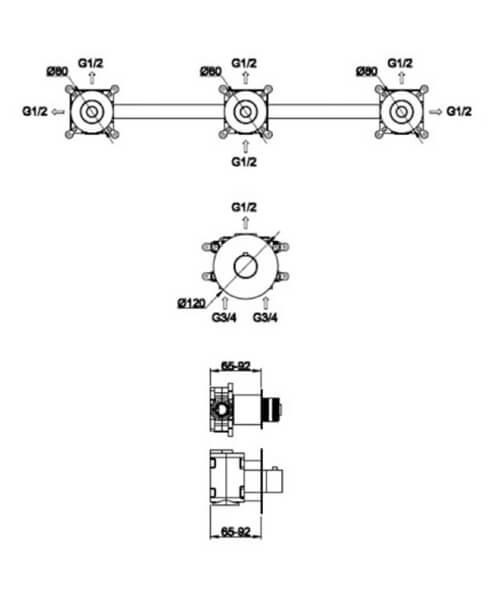 Technical drawing 62956 / RAKPRT3021