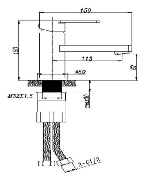 Technical drawing 62964 / RAKS6003001