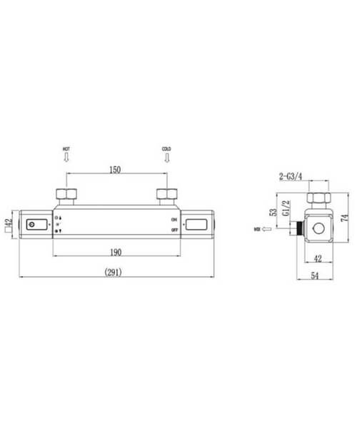 Technical drawing 62993 / RAKRST3303