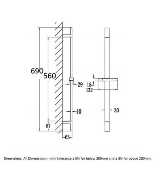 Technical drawing 66002 / RAKSHW3001