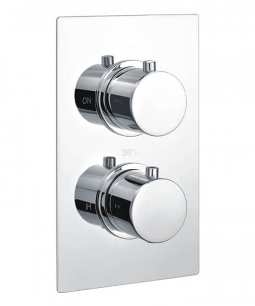 RAK Round 2-Handle Thermostatic Concealed Shower Valve - Single Outlet