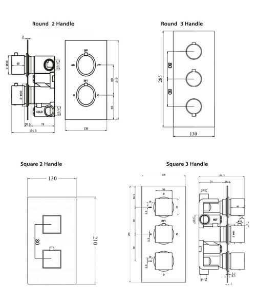 Technical drawing 66003 / RAKSHW3201R