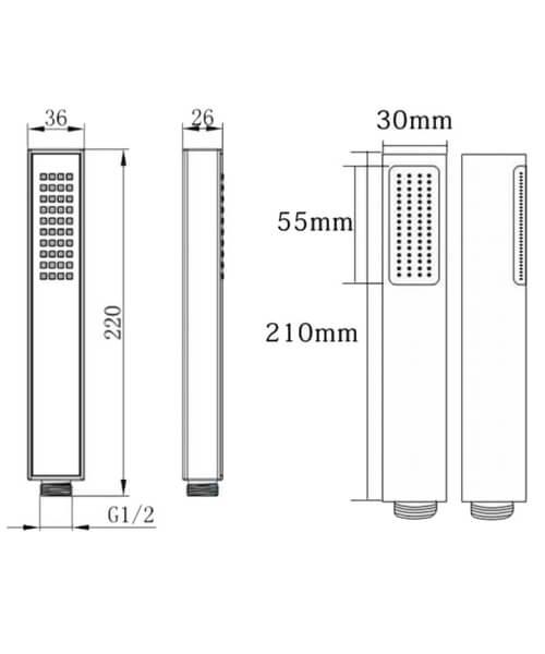 Technical drawing 66004 / RAKSHW4001