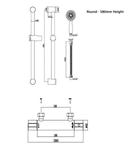 Technical drawing 66010 / RAKSHW6016