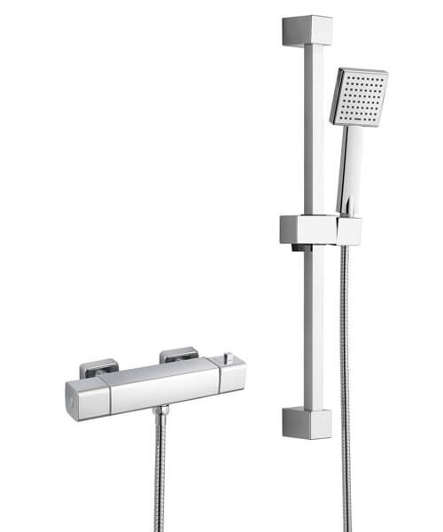 Alternate image of RAK Cool Touch Thermostatic Bar Shower Valve With Slider Rail Kit