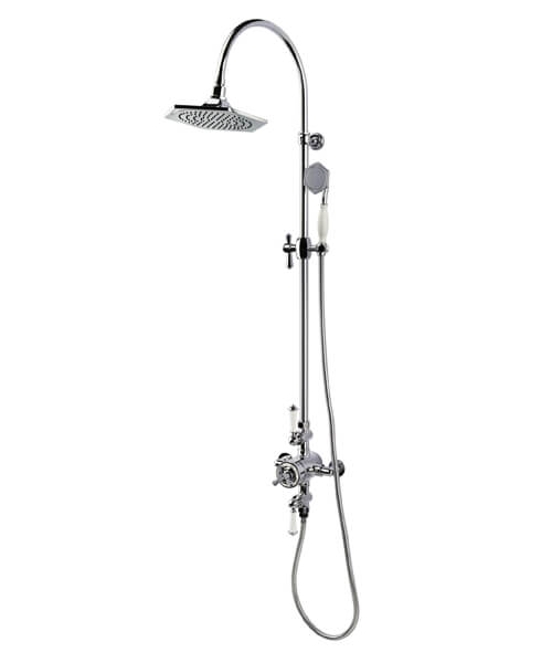 RAK Washington Exposed Thermostatic Shower Column with Fixed Head and Shower Kit
