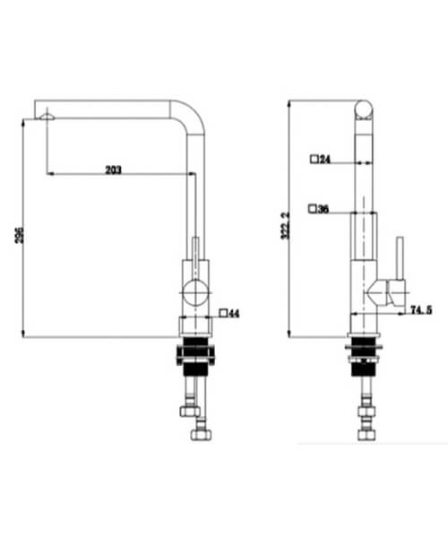 Technical drawing 66032 / RAKKIT020