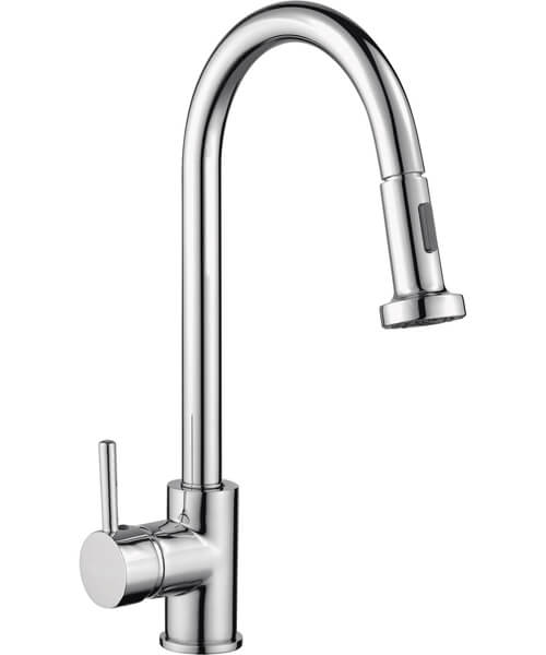 RAK Madrid Side Lever Kitchen Sink Mixer Tap With Pull Out Spout
