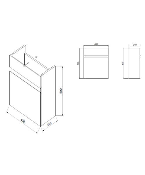 Technical drawing 62840 / RAK6709WHT