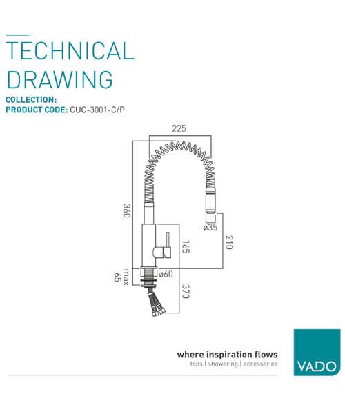 Technical drawing 25227 / CUC-3001-C/P