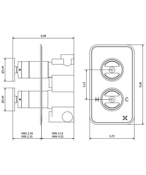 Technical drawing 61129 / UB1500RC