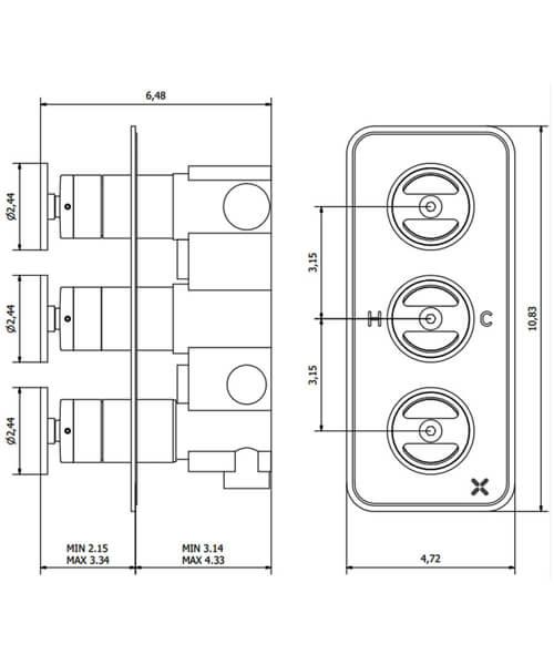Technical drawing 59990 / UB2000RC