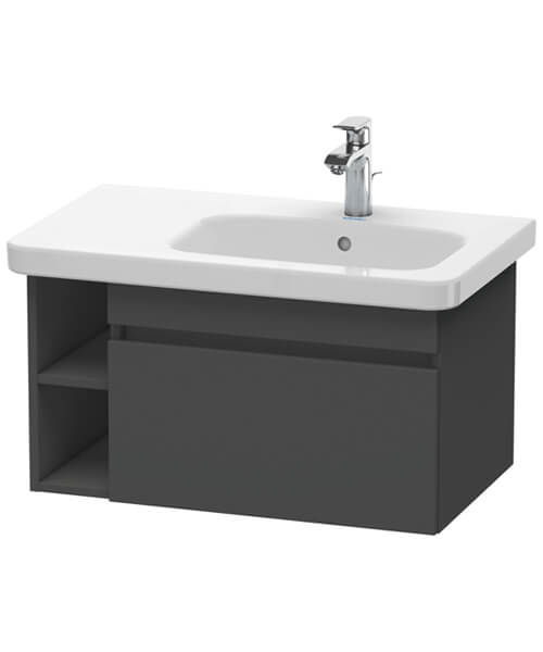 Duravit DuraStyle 1 Pull Out Compartment Vanity Unit And Lateral Shelf