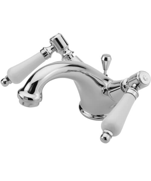 Tre Mercati Victoria Bianco Mono Basin Mixer Tap With Pop-Up Waste