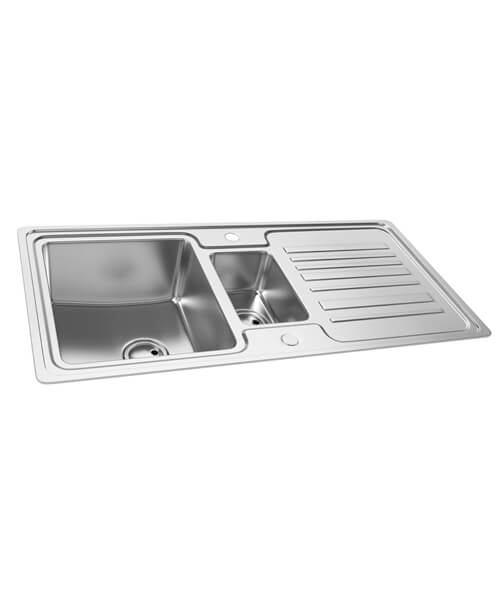 Abode Apex 1.5 Bowl Reversible Inset Kitchen Sink And Drainer