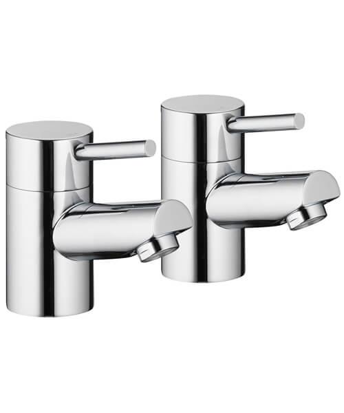 Pura Xcite Chrome Finish Bath Pillar Taps