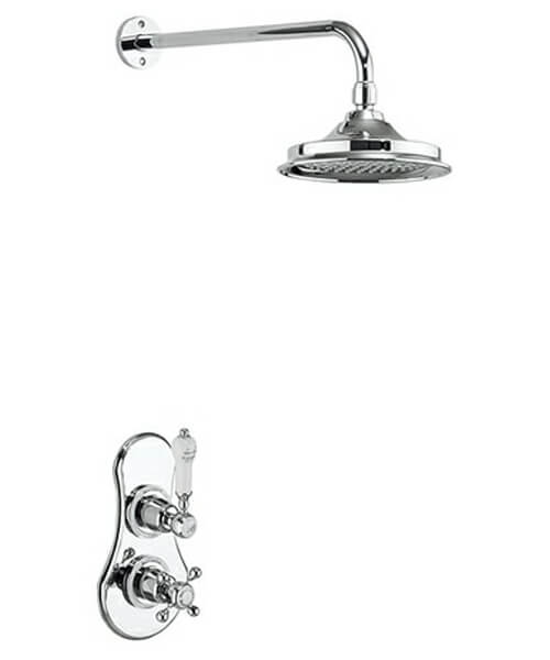 Burlington Severn Concealed Thermostatic Valve With Fixed Arm And Head