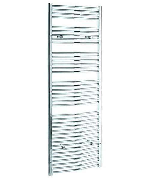 Tivolis Curved Heated Towel Rail 400 x 1800mm - Chrome