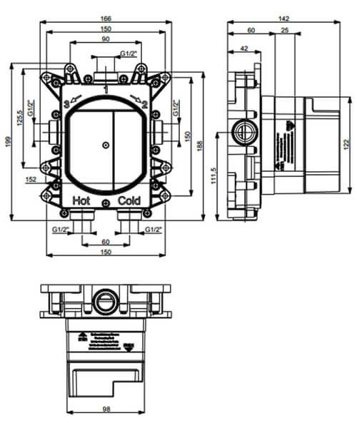Technical drawing 62196 / PROCB1000LBPC