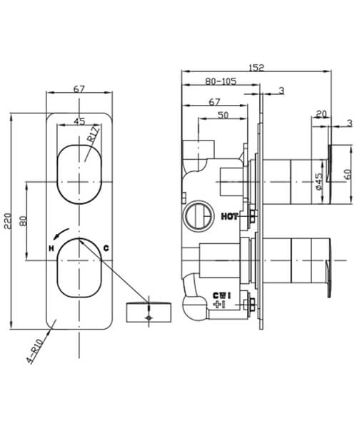 Technical drawing 36320 / ZR02_1000RC