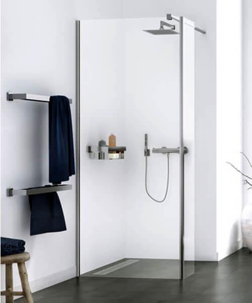 Aqualux Origin 8 2000mm Height Corner Fit Single Walk-In Shower Panel