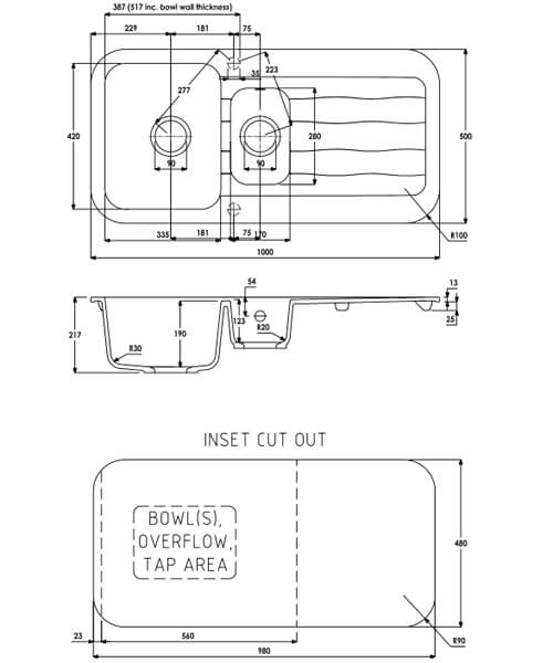 Technical drawing 63461 / AW3143