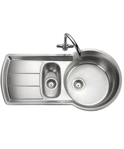 Rangemaster Keyhole 1.5 Bowl Stainless Steel Kitchen Sink 1000 x 189mm
