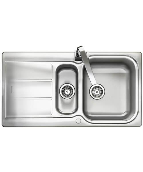 Rangemaster Glendale 1.5 Bowl Stainless Steel Kitchen Sink Reversible