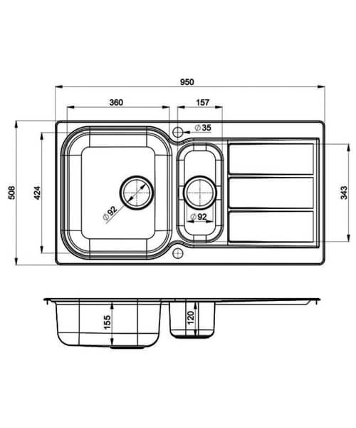 Technical drawing 22938 / GL9502/